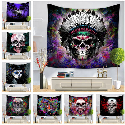 Death Skull Wall Hanging Tapestry - West Fairy