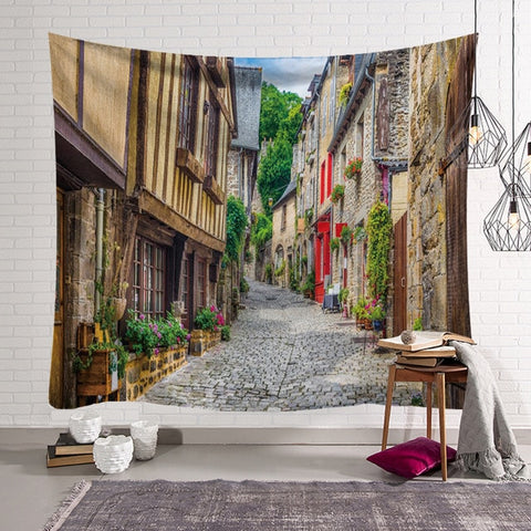 Small Town Wall Hanging Tapestry - West Fairy