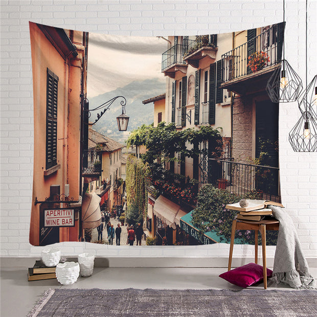 Small Town Wall Hanging Tapestry - Westfairy.com