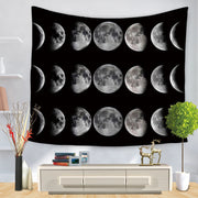 Mid Night Moon Tapiz Wall Hanging Tapestry - West Fairy