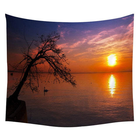 Ocean Scenery Wall Hanging Tapestry - West Fairy