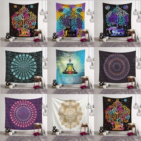 Indian Boho Mandala Wall Hanging Tapestry - West Fairy