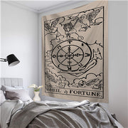DEVIL Witchcraft Vintage Tarot Card Wall Hanging Tapestry - West Fairy