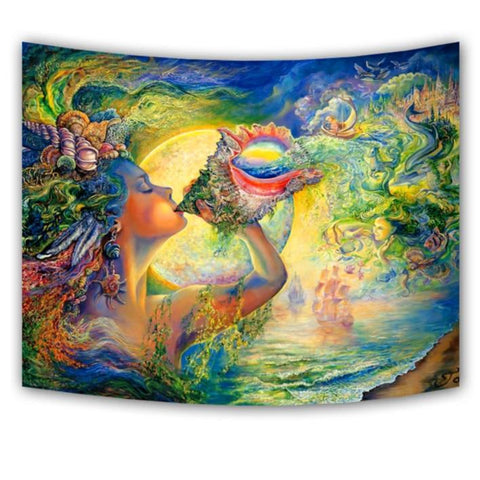 Love Goddess Wall Hanging Tapestry - West Fairy