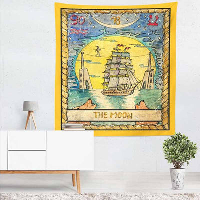 Sun Star Moon Tarot Witchcraft Wall Hanging Tapestry - West Fairy
