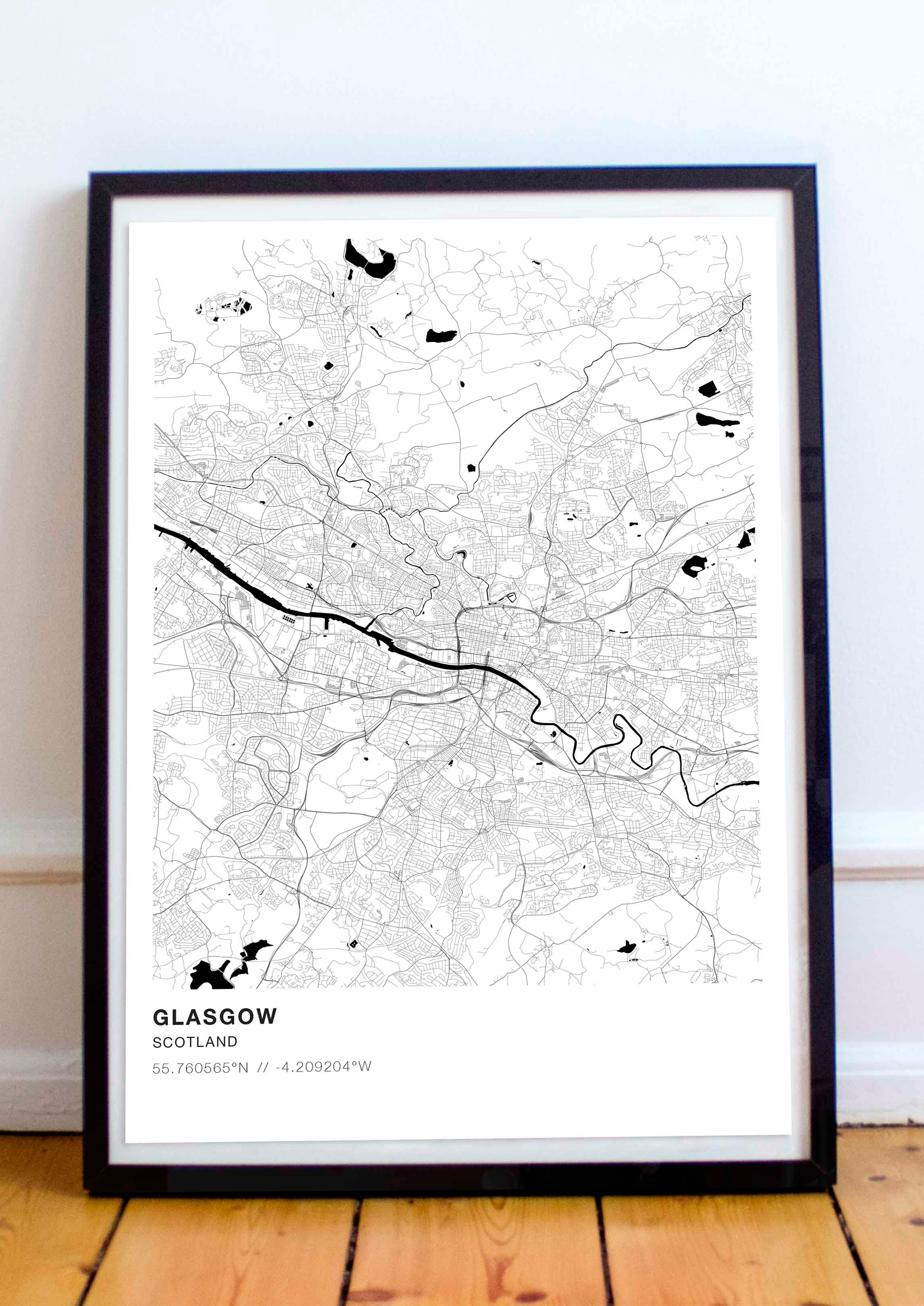GLASGOW PERSONALISED MAP PRINT