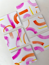 Load image into Gallery viewer, Pink Strokes Hand-Painted Notecards (Box Set)