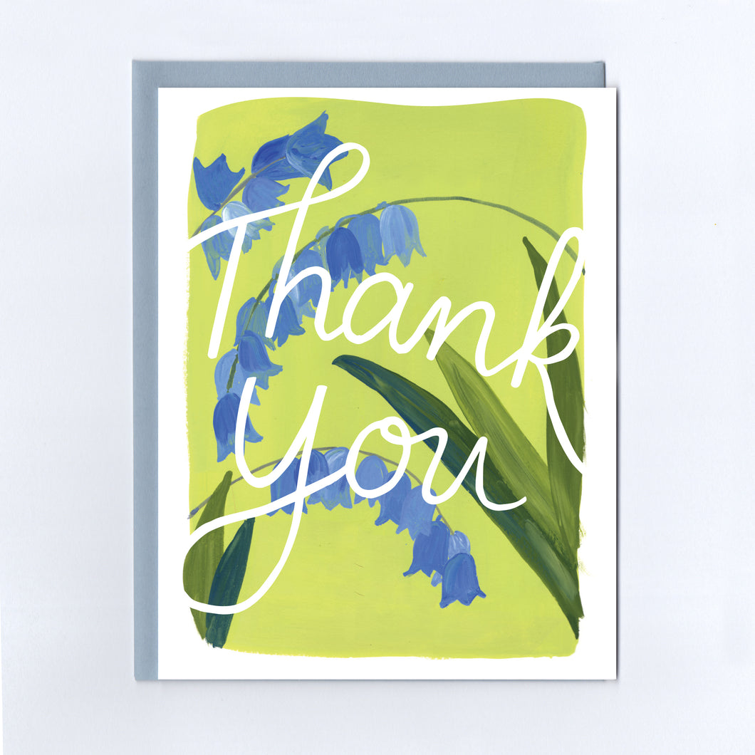 Thank You Bluebells - Greeting Card