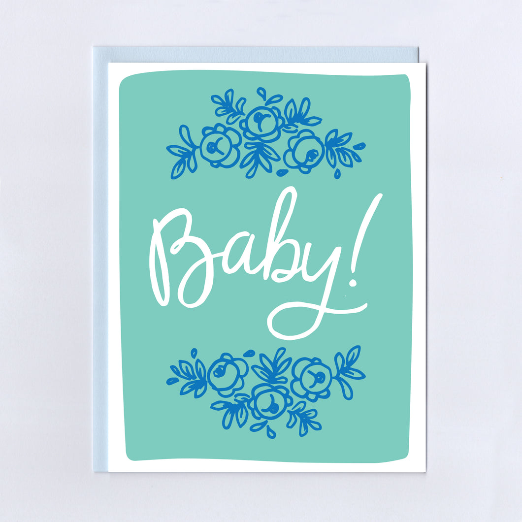 Baby Floral - Greeting Card
