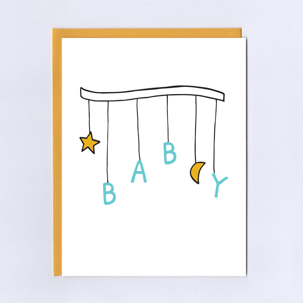 Baby Mobile - Greeting Card