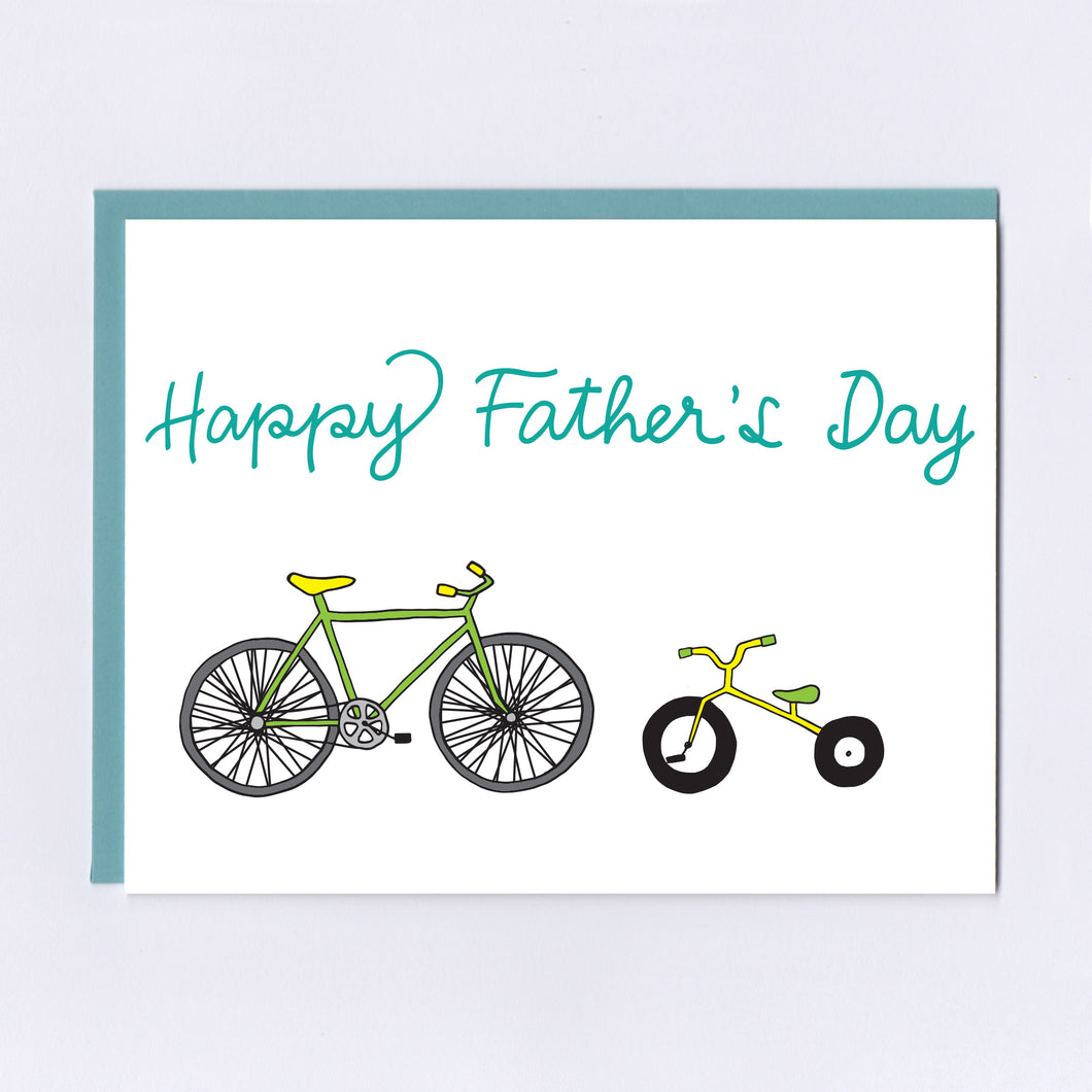 Bikes Father's Day - Greeting Card