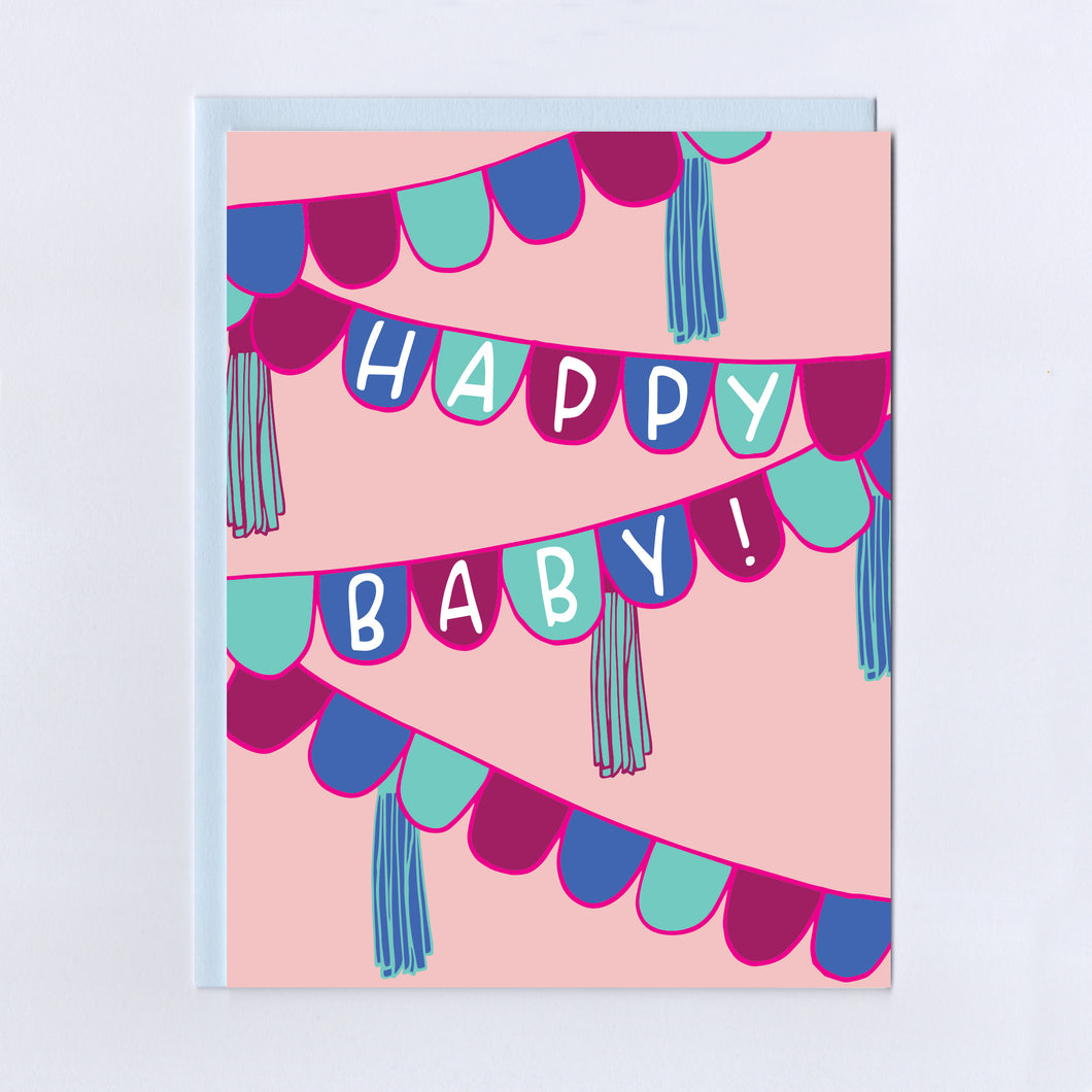 Happy Baby Bunting - Greeting Card