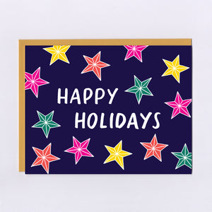 Holiday Star Lights - Greeting Card