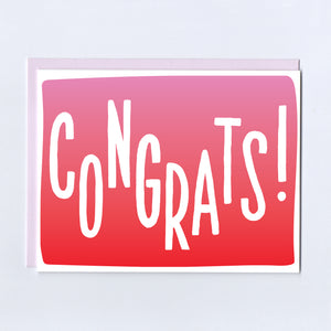 Ombre Congrats - Greeting Card