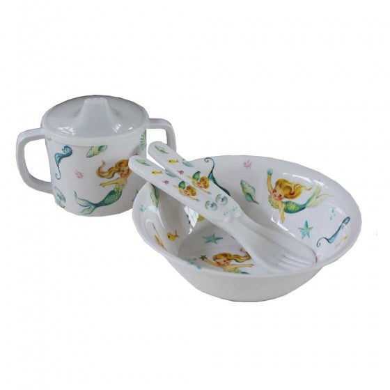 Mermaid Print Melamine Set - Babies