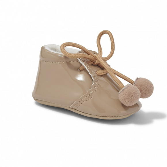 Joe Camel Pom Pom Soft Sole Pram Shoes