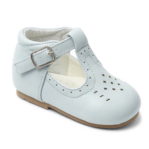 Boys Matt T Bar Shoe - Powder Blue
