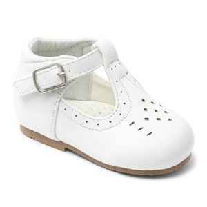 Boys Matt T Bar Shoe - White