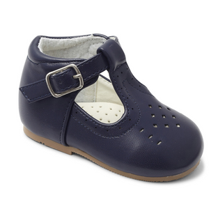 Boys Matt T Bar Shoe - Navy