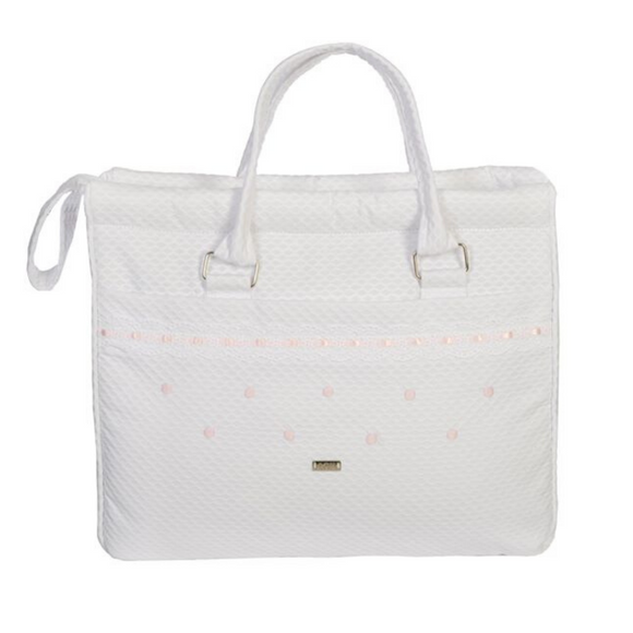 ACH Pink & White Changing Bag