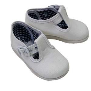 Sardon White T-Bar Shoe