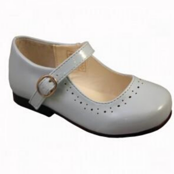 Abbey' White Hard Sole Girls Shoes