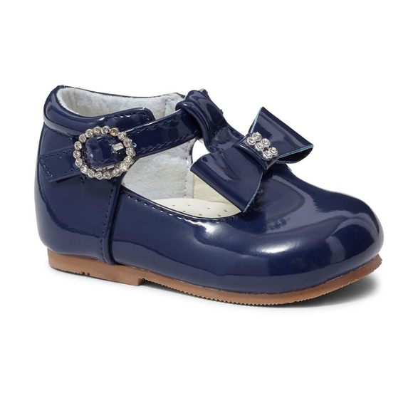 Lilly Navy Patent T Bar Shoe
