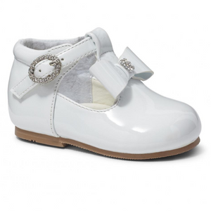 Lilly White Patent T Bar Shoe
