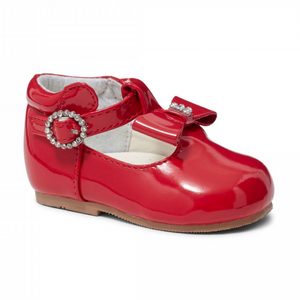 Lilly Red Patent T Bar Shoe