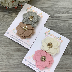 Beautiful Flower Clip Set