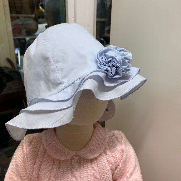 Sarah Louise Flower Sun Hat - Blue