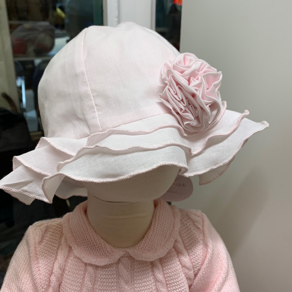 Sarah Louise Flower Sun Hat - Pink