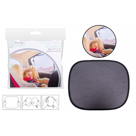 First Steps 2 Pack Car Sun Shades
