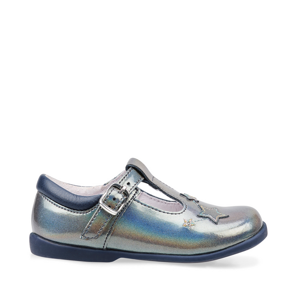Start Rite, Star Gaze Multi Metallic Patent Girls T Bar Buckle First Walking/Pre School Shoe