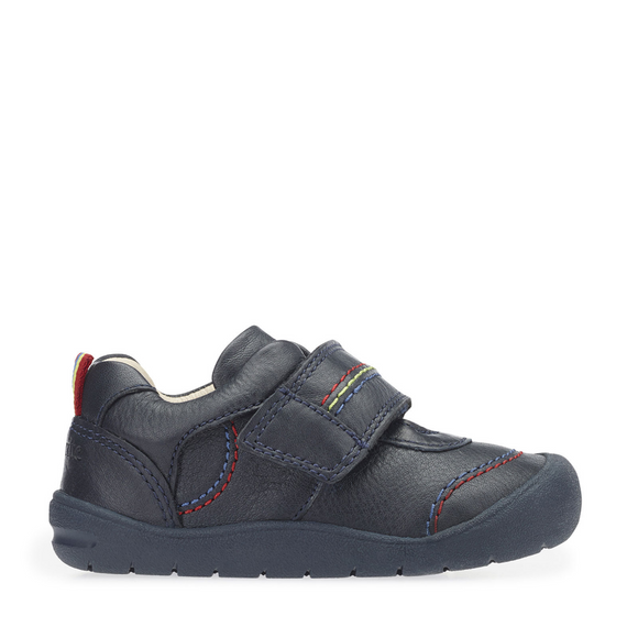 Start Rite, First Zak Navy Blue Boys Riptape First Walking Shoe