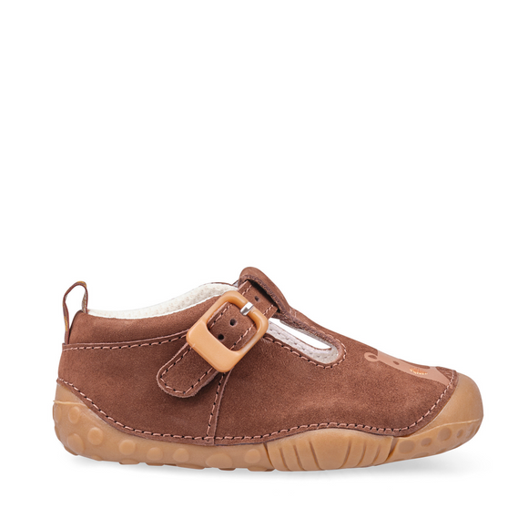 Start Rite, Cuddle Brown Nubuck T Bar Pre Walkers