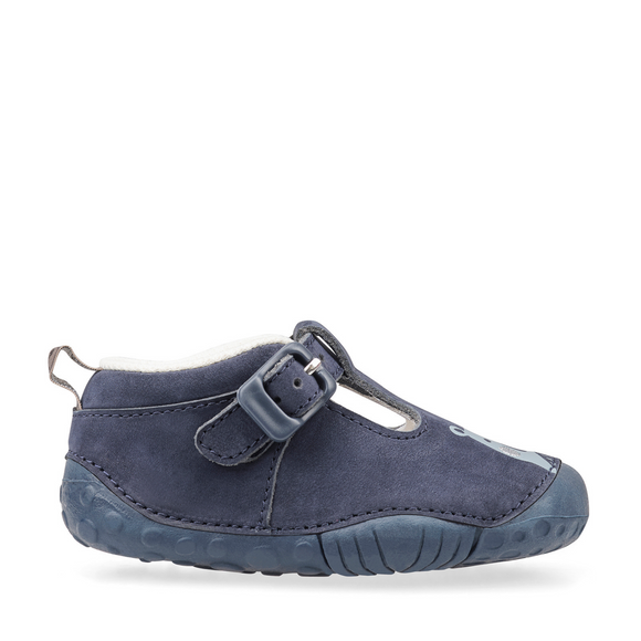 Start Rite, Cuddle Navy Nubuck T Bar Pre Walkers