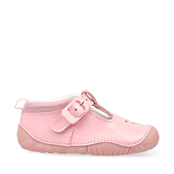 Start Rite, Baby Bubble Pink Patent T Bar Pre Walkers