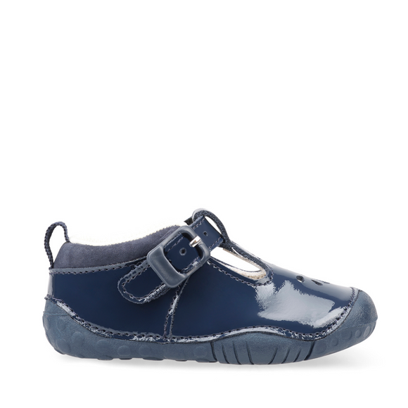 Start Rite, Baby Bubble Navy Patent T Bar Pre Walkers