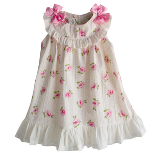 Pretty Originals Cream/Pink Floral Dress
