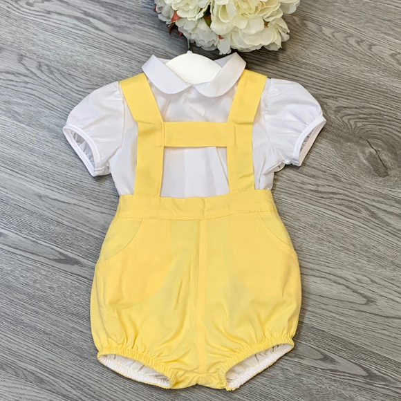 Boys Two Piece Yellow H Bar Set