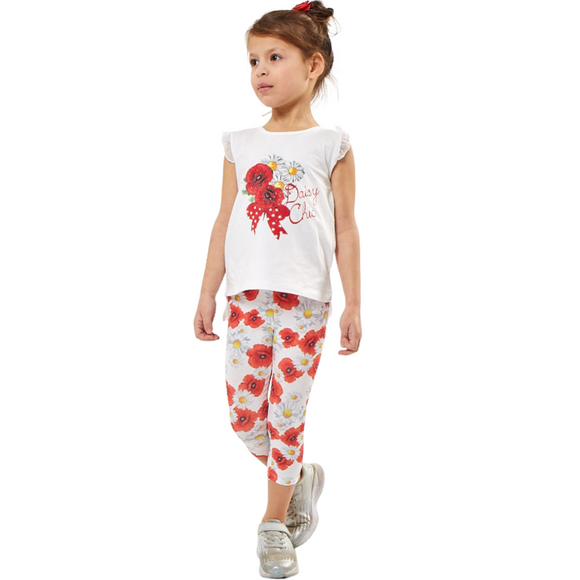 Girls Summer Daisy Legging Set