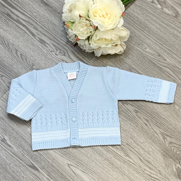 Boys Blue/White Cardigan
