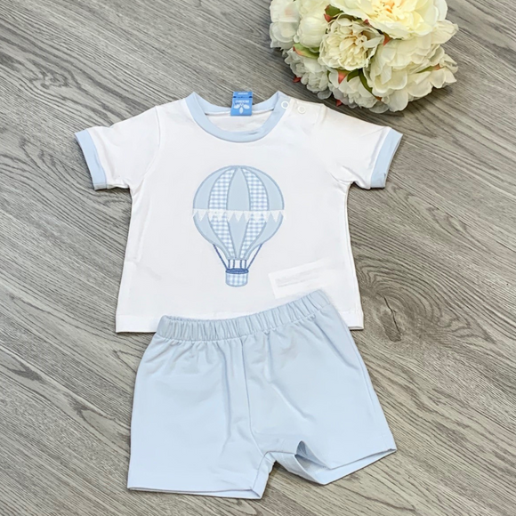 Sardon Blue Hot Air Balloon Short Set