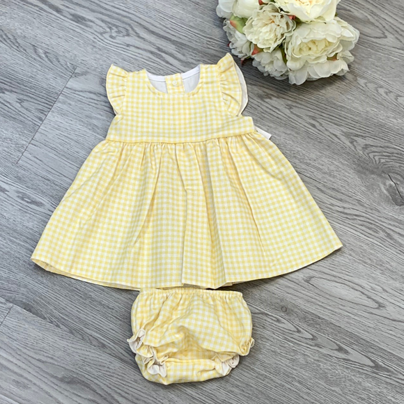 Rapife Girls Lemon Check Dress Set