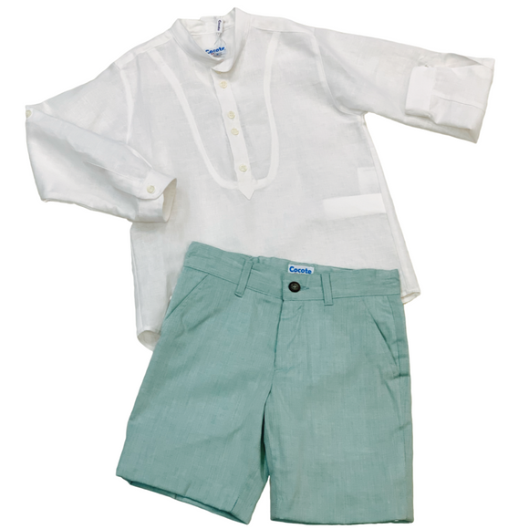 Cocote Boys Two Piece Short Set Mint