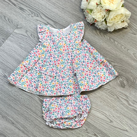 Rapife Girls Ditsy Floral Dress Set