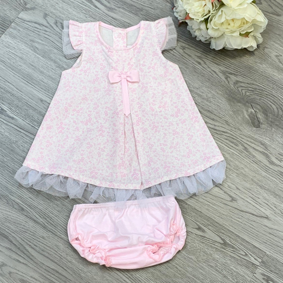 Rapife Girls Pink Floral Dress Set
