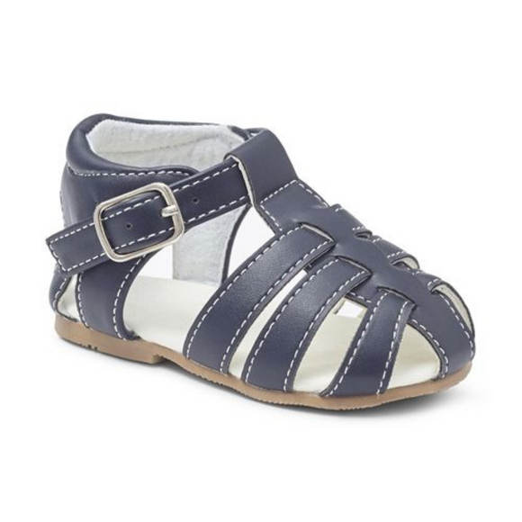 Boys Navy Matt Sandals