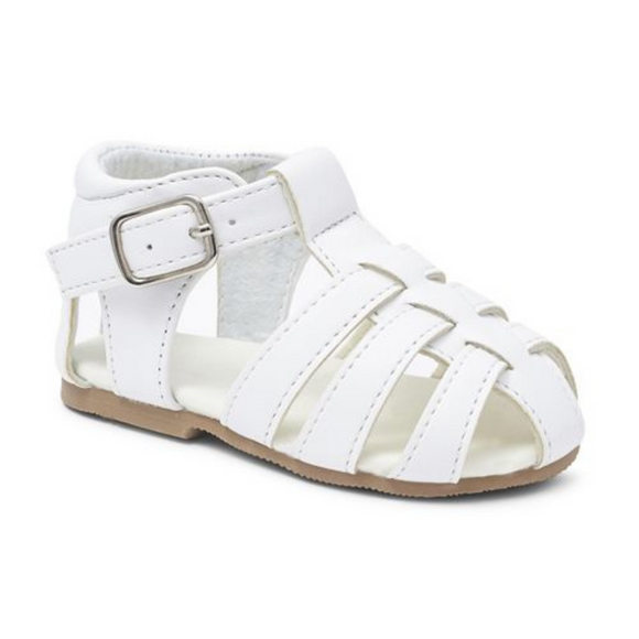 Boys White Matt Sandals